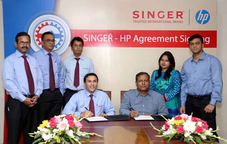 HP-SINGER Agreement Signing